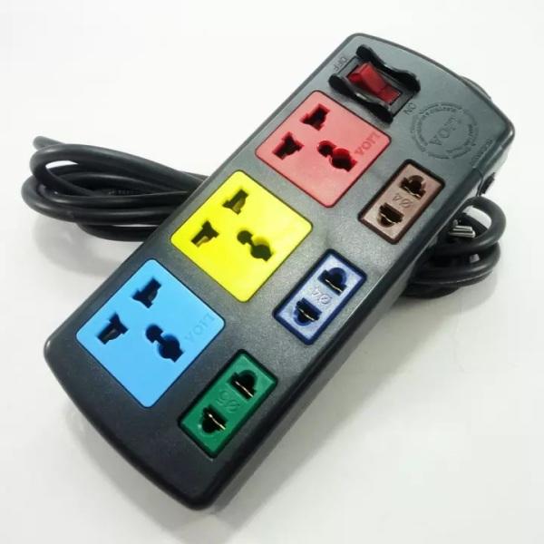 Ổ Cắm Điện 6 Lỗ Đa Năng (3 Lỗ 3, 3 Lỗ 2) dây 3m Lioa 3D3S32 Màu Đen, Chất Liệu Nhựa ABS Cao Cấp Siêu Bền, Thiết Kế Tiện Dụng