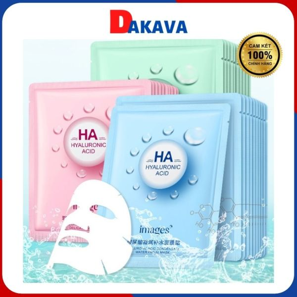 [Freeship]Mặt nạ dưỡng da giấy HA giảm mụn dưỡng ẩm trắng da chống lão hóa DAKAVA MN01 nhập khẩu
