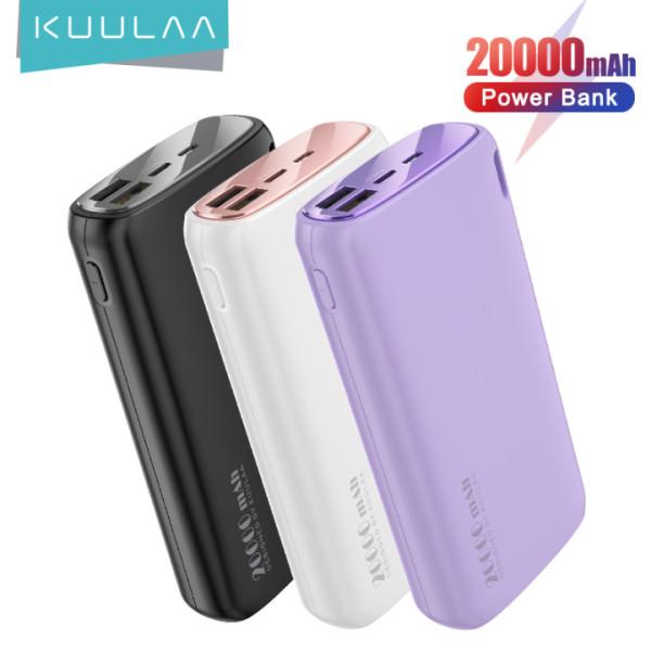 KUULAA Cục sạc dự phòng dung lượng 20000mAH dùng cho điện thoại Xiaomi Mi iphone 12/12pro/12 mini iphone 11 pro max iphone 7 phus iphone 6 Oppo Samsung - INTL