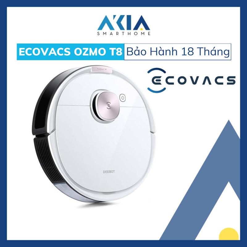 Robot hút bụi lau nhà thông minh Ecovacs DEEBOT OZMO T8 - Hàng Chính Hãng BH 18 Tháng