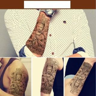 Hình xăm dán nam tatoo Phật kích thước 15 x 21 cm - miếng dán hình xăm đẹp dành cho nam thumbnail