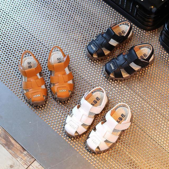 [rẻ Bất Chấp] Sandal Da Rọ Bé Trai Bé Gái Size 21-30 By Giaydeptreemhanoi.