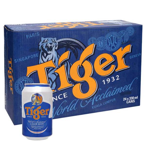 Thung bia tiger 24l 330ml