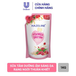 Sữa Tắm Hazeline Yến Mạch & Dâu Tằm - Sáng Ngời Thuần Khiết (Túi 1kg) thumbnail