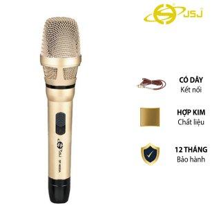 Micro karaoke có dây cao cấp JSJ SF-9000A thiết kế sang trọng mỹ quan hợp xu hướng đầu mic làm từ kim loại vàng giúp cách ly bui bẩn trang bị công nghệ giảm tiếng ồn cho ra chất lượng âm thanh hoàn hảo thumbnail