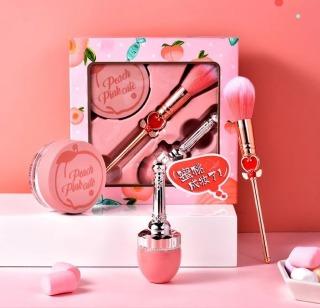 Set trang điểm 3 món hồng đào siêu đẹp phấn má hồng xinh thumbnail