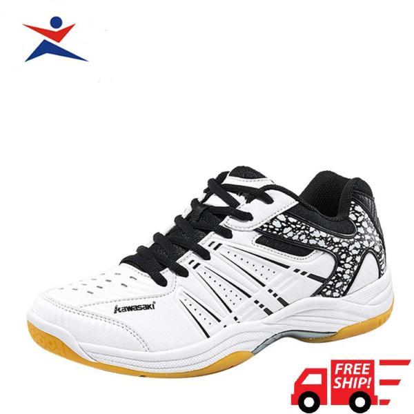 Giày cầu lông chuyên dụng Kawasaki K063 màu đen trắng trẻ trung siêu bền siêu mềm  đa dạng kiểu dáng dành cho nam và nữ