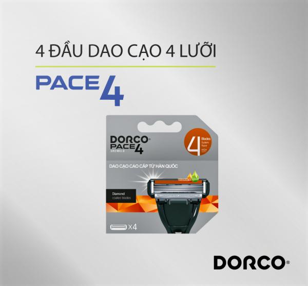 Vỉ 04 Đầu Cạo 4 Lưỡi DORCO PACE 4