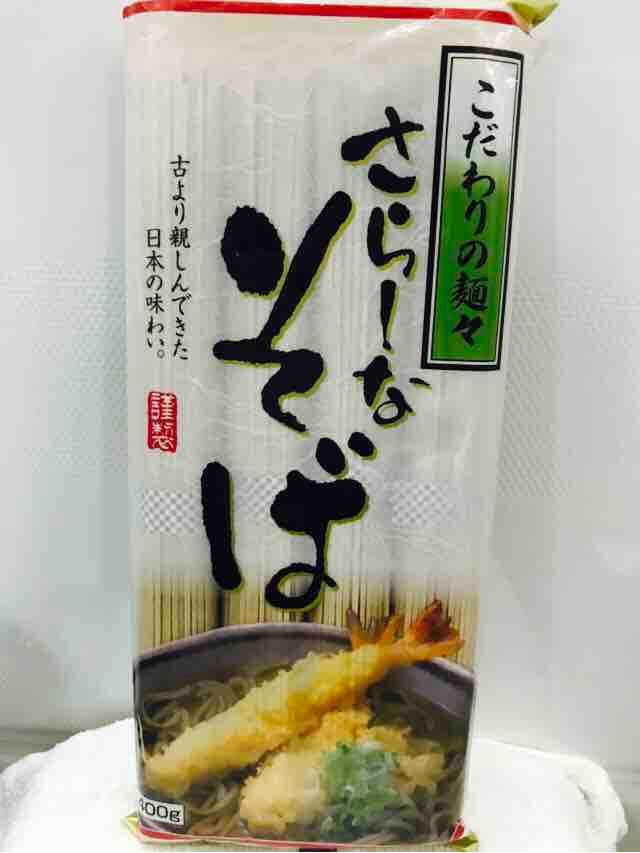 Fuji048 mì soba trắng Nhật Bản ăn nóng hoặc lạnh hàng xách tay Nhật Bản 400g,  さらしなそば 蕎麦 そば  400g Soba  美味しい 旨い 安い 簡単.
