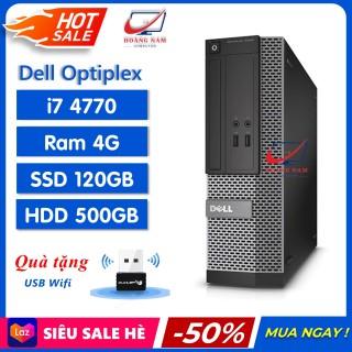 [Trả góp 0%] PC Đồng Bộ Dell Freeship Máy Bộ Dell i7 - Dell Optiplex 3020 7020 9020 (i7 4770 Ram 4GB SSD 120GB HDD 500GB) - Hàng Chính Hãng - Bảo Hành 12 Tháng - Tặng USB Wifi thumbnail