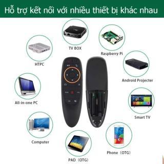 Remote tivi thông minh, Remote tivi thông minh, Remote thong minh tivi, Chuột bay không dây điều khiển giọng nói G10S cao cấp - kết nối mọi hệ điều hành, tương thích mọi loại smart TV