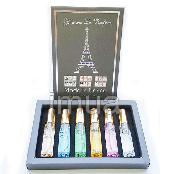 Bộ 6 chai nước Hoa Mini Nam Nữ của Pháp Jame Le Pafum