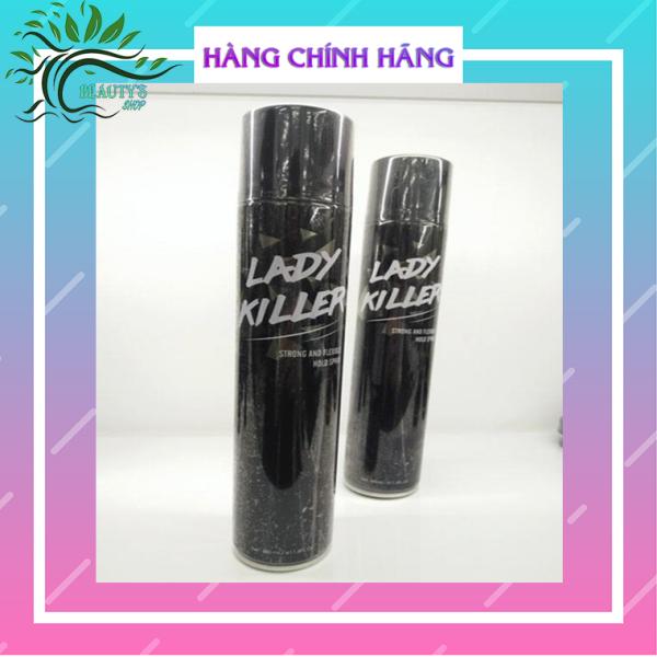 Gôm xịt tóc Lady Killer - Giữ Nếp Tóc 24h - Tặng kèm 1 mặt nạ dưỡng ẩm, trắng da. giá rẻ