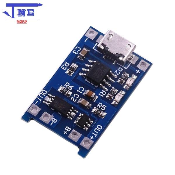 Mạch sạc pin và bảo vệ pin lithium 1A cổng micro