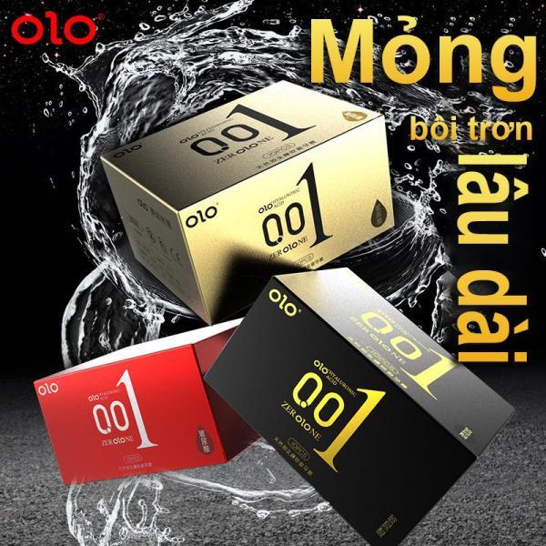 1Box(10pcs) OLO Bao cao su gai Thời gian trễ siêu mỏng Axit hyaluronic Vanilla- 10 Cái -Baile shop- giá rẻ