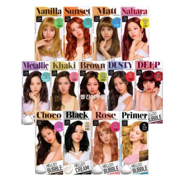 Thuốc nhuộm tóc bọt biển Blackpink - Mise En Scene Hello Bubble Foam Hair Color nhập khẩu