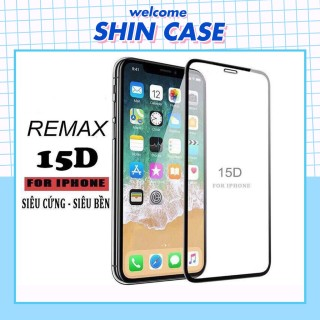 Kính cường lực iphone 15D REMAX full màn 5 5s 6 6s 7 7plus 8 8plus plus x xr xs 11 12 pro max Shin Case thumbnail