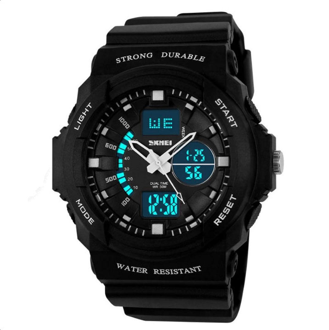 Nơi bán Đồng hồ điện tử nữ - đồng hồ thời trang thể thao nữ skmei 0955 - đen trắng