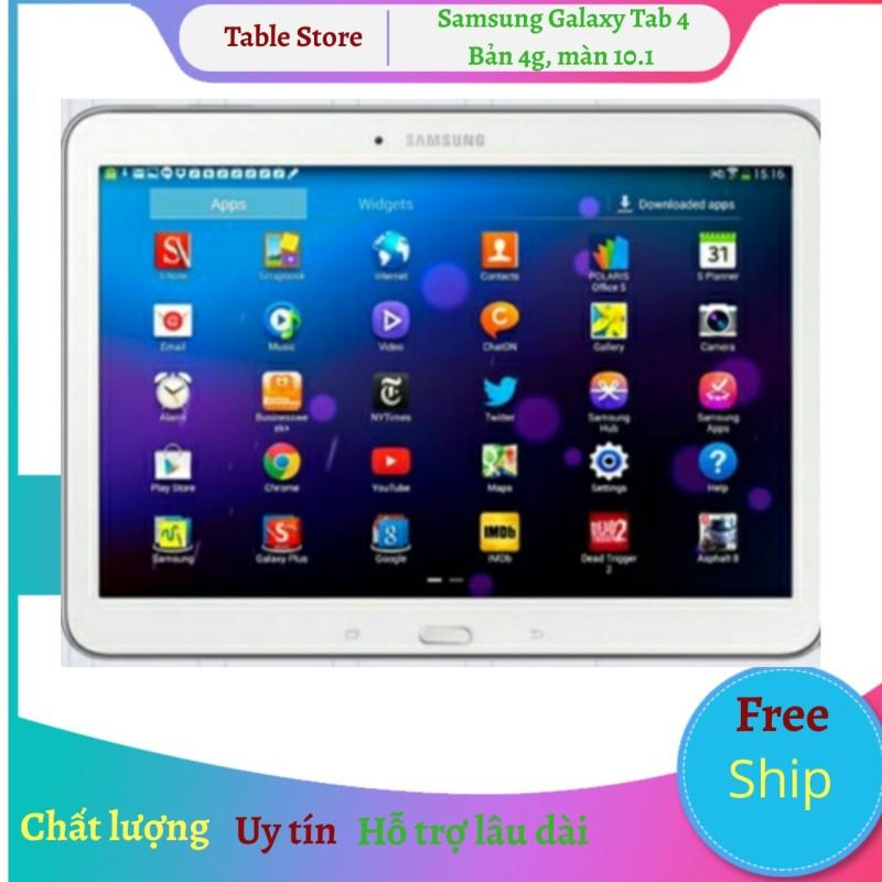 Máy tính bảng Samsung Galaxy Tab 4 10.1 bản wifi tặng đế dựng [add sẵn 2 phần mềm học online tienganh123, luyenthi123 bản quyền trọn đời máy] chính hãng