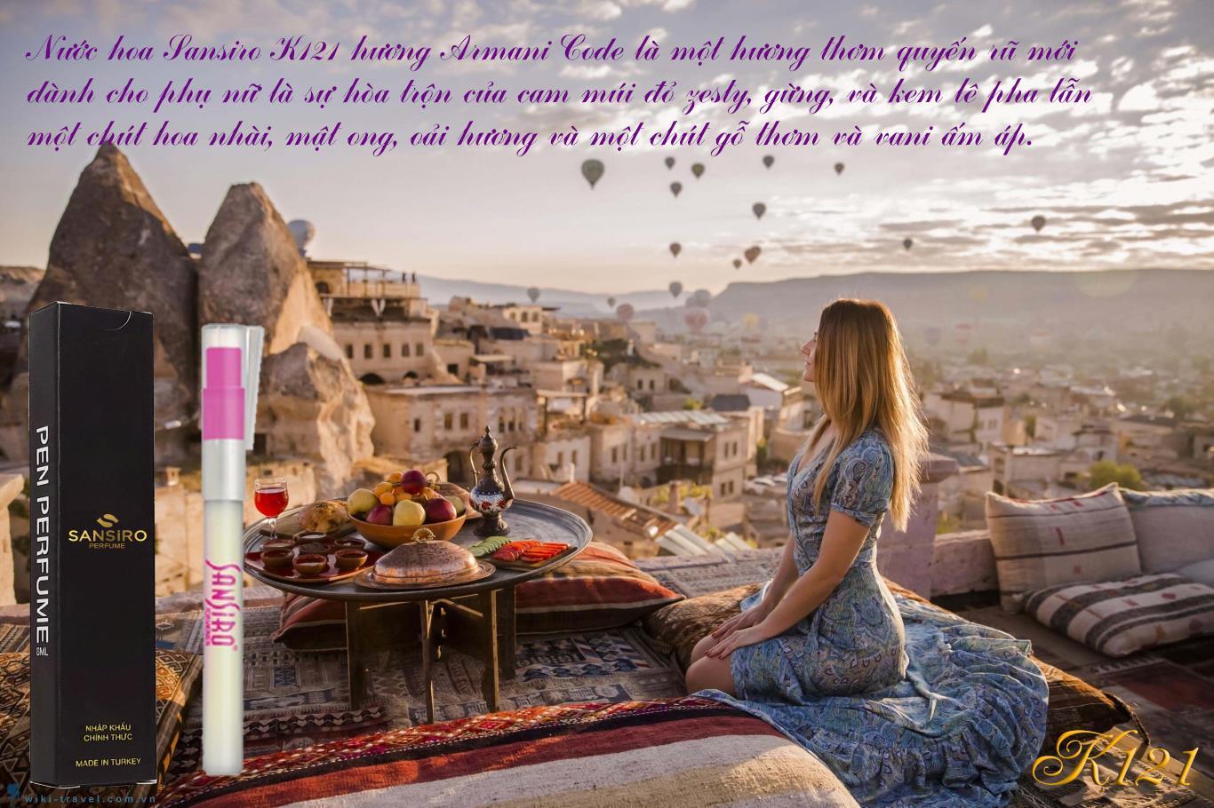 K121 - Nước hoa nữ Sansiro Thổ Nhĩ Kỳ 8ml