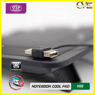ĐẾ LAPTOP COOLER N19, thiết kế trên bề mặt có rãnh để gió dễ dàng thoát ra ngoài tốc độ quạt mạnh giúp tản nhiệt nhanh cho máy 1
