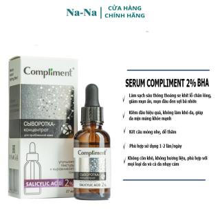 Serum Bha 2% Compliment 27ml giúp làm sạch sâu, giảm mụn đầu đen, sợi bã nhờn trên da thumbnail
