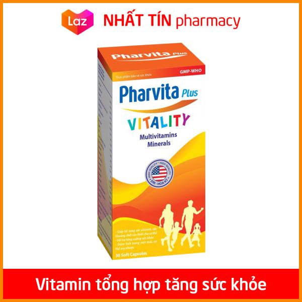 Viên uống vitamin tổng hợp Pharvita Plus bồi bổ cơ thể, tăng cường sức đề kháng, giảm mệt mỏi suy nhược - Chai 30 viên - NHẤT TÍN PHARMACY cao cấp