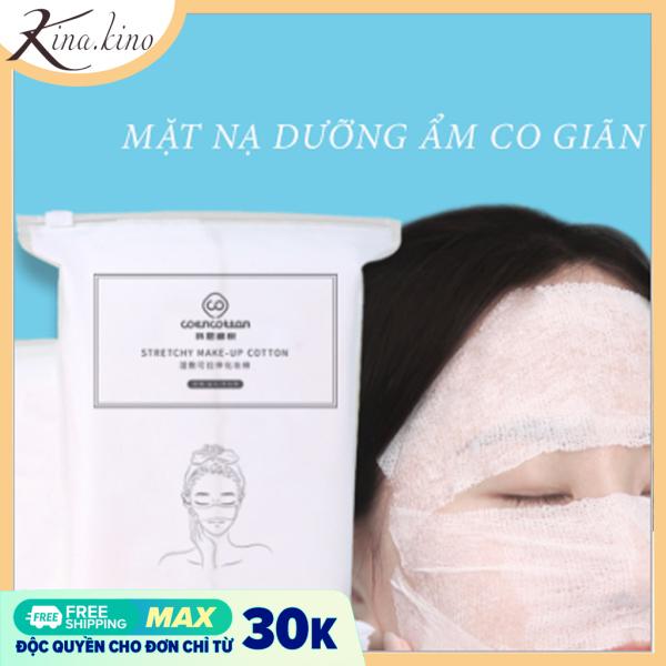 [2in1] Bông tẩy trang- bông đắp mặt nạ Cao cấp COENCOTTON 200 miếng- Kinakino phukienlamdep