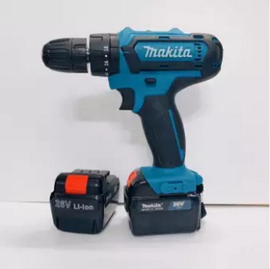 Máy khoan pin 26V Makita 3 chức năng có búa - Tặng kèm 24 chi tiết gồm các mũi khoan + Mũi bắt vít