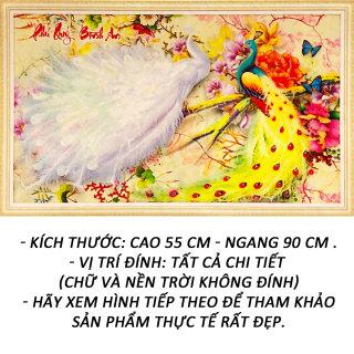 Tranh đính đá 5D - Phú Quý Bình An 116 - Tranh Minh Hiền (TỰ ĐÍNH ĐÁ)-Tặng 2 Viết Đính Đá Siêu Cấp - Đính 7 Viên Cùng Lúc. thumbnail