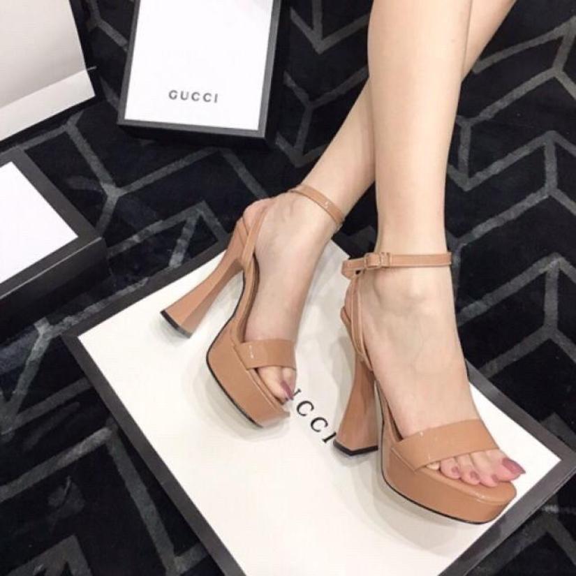 [HOT TREND] giày cao gót đế đúp 12 phân quai ngang sandal hàng có sẵn giá rẻ