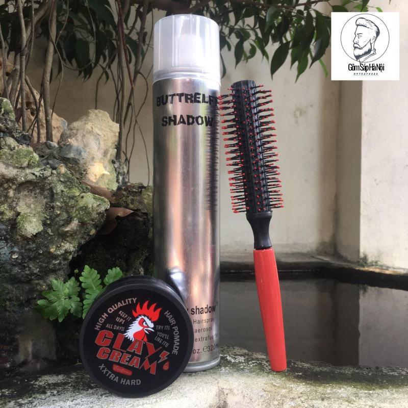 Combo Gôm Xịt Tóc Buttrefly 320ml + Sáp Vuốt Tóc Cock Crease-Made In Japan 80gc + Lược giá rẻ