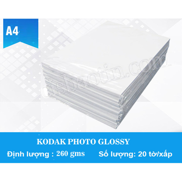 GIẤY IN GLOSSY RC A4 260G