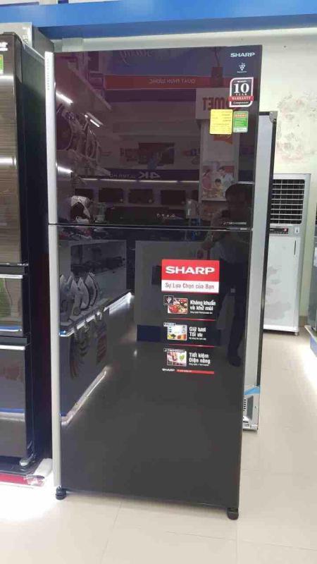 Tủ lạnh sharp invester sj-xp400pg-bk 397L (Hàng Thái lan mới 100% - BH chính hãng 1 năm tại nhà trên TQ)