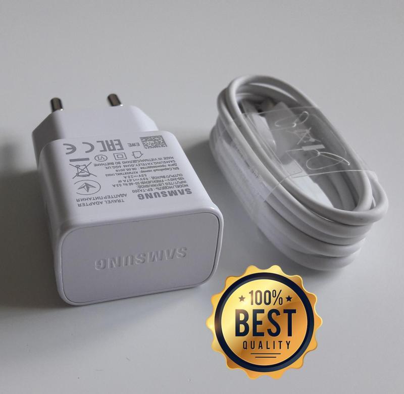 Giá Bộ sạc nhanh Samsung A70 (Cam kết hàng Zin - có hướng dẫn phân biệt) (Fast Charging) (Adaptor trắng nhám + Cable chuẩn type C)