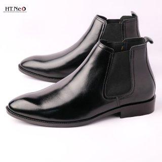 HT NEO giày nam cổ cao, giày boost nam chất liệu da thật cao cấp HOT 2021 DN25- de thumbnail