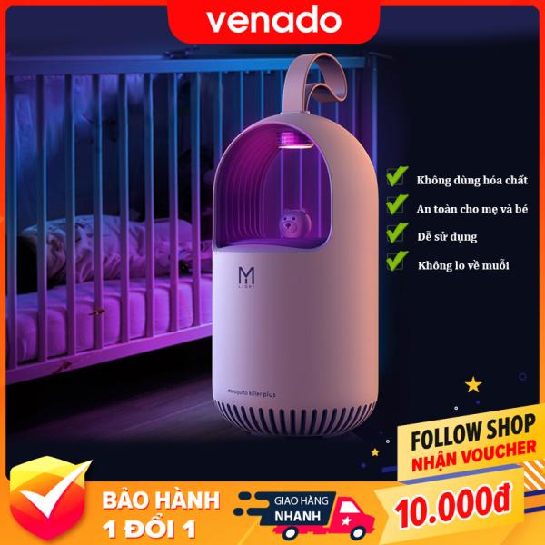 Đèn bắt muỗi diệt côn trùng kiêm đèn ngủ led thông minh hình Gấu Venado - Đèn bắt muỗi tự động bằng ánh sáng tia UV thân thiện với môi trường không mùi khét, không gây ồn