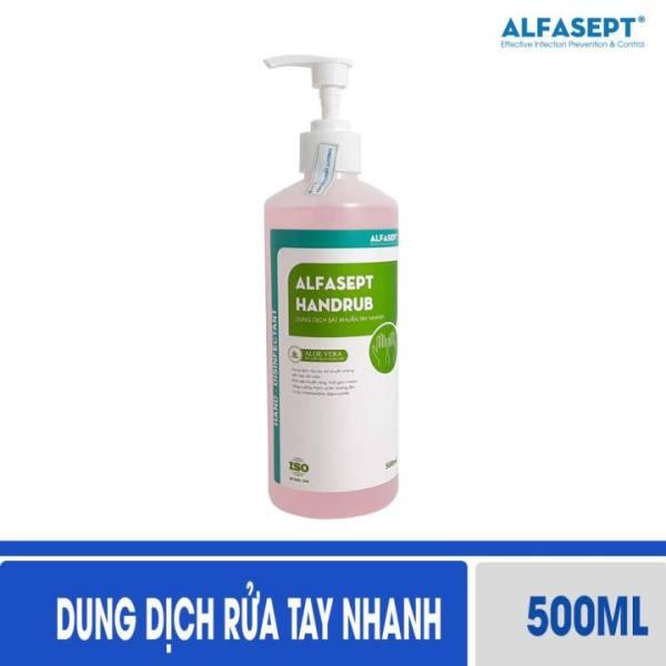 Nước rửa tay sát khuẩn ALFASEPT Handrub 500ml - Nước rửa tay khô, dung dịch rửa tay nhanh, rửa tay sát khuẩn