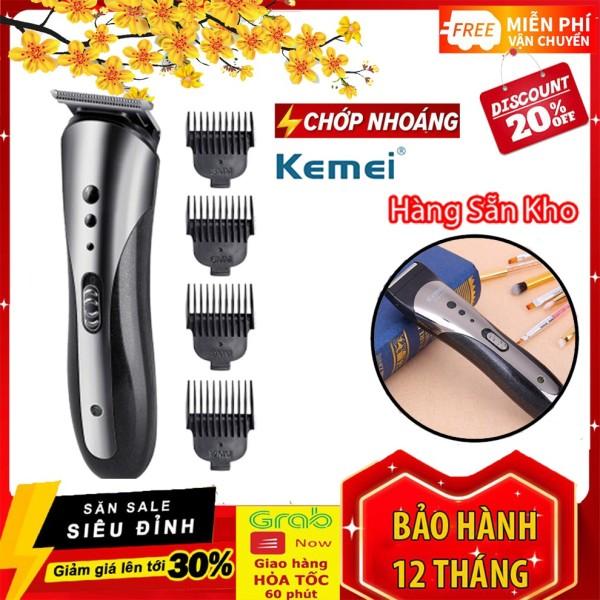 Tông đơ cắt tóc kiêm cạo râu chính hãng Kemei 1407 + Tặng dụng cụ lấy ráy tai có đèn giá rẻ