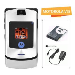 Điện thoại Motorola V3i nắp gập (CHÍNH HÃNG - Bàn phím thép - Kèm Pin Sạc) thumbnail