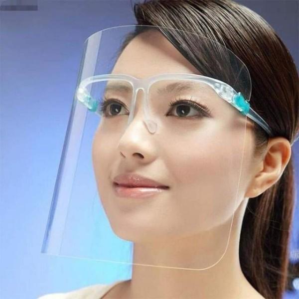 Giá bán combo 5 Tấm kính che mặt bảo vệ chống bắn nước bọt chống dịch chống bụi chống nắng có thể dùng đi xe máy