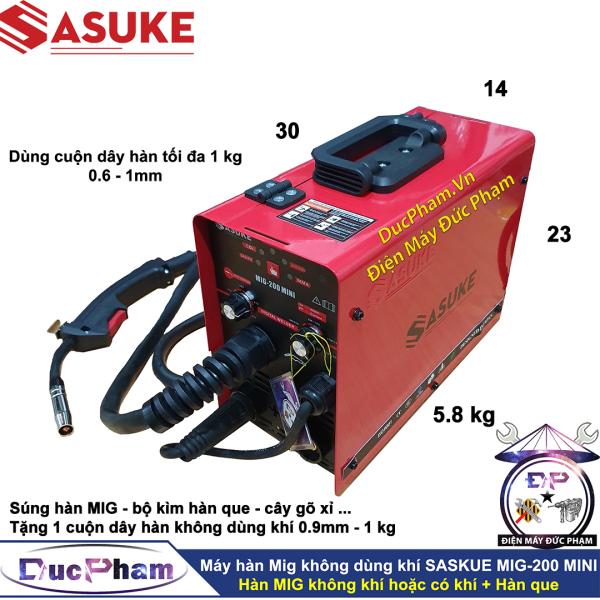 Máy hàn Mig không dùng khí mini SASUKE MIG-200 MINI ( Công Ty ) - Máy hàn Mig 3 chức năng - máy hàn điện tử - máy hàn que