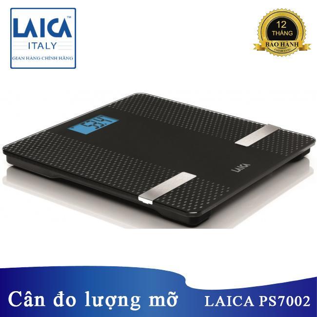 Cân sức khỏe phân tích lượng mỡ nước cơ thể qua BMI Bluetooth Laica PS7002 - kết nối với điện thoại nhập khẩu