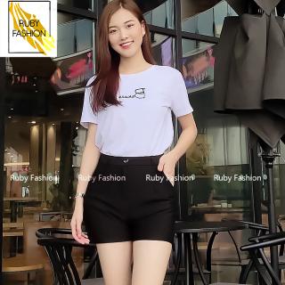 Quần short nữ Ruby Fashion cạp cao chất vải Umi Hàn cao cấp co giãn tốt tôn dáng thumbnail