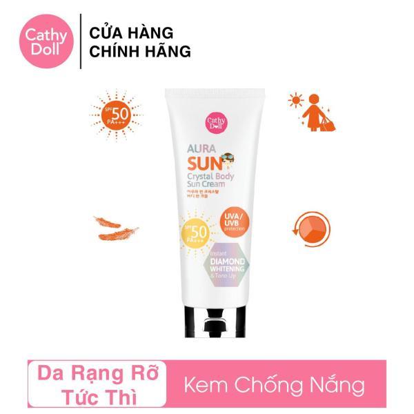 Kem Chống Nắng Ánh Nhũ Cathy Doll Aura Sun Crystal Body Sun Cream SPF50 PA+++ 138ml tốt nhất