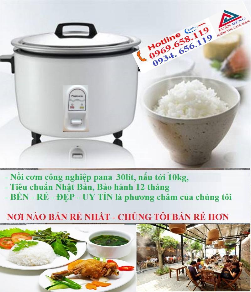 Nồi cơm điện công nghiệp pana 30L, 3800w, nấu được 8kg gạo cho 25 người ăn, noi com dien uy tín bảo hành 12 tháng