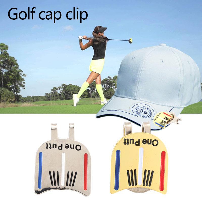 Mingrui One Putt Alloy Golf Ball Marker Golf Cap Clip Golf Hat Clip Magnetic - 5