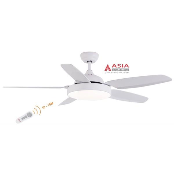 [CHÍNH HÃNG] - Quạt trần 5 cánh kèm đèn chiếu sáng cao cấp có khiển QT04 Asia VN