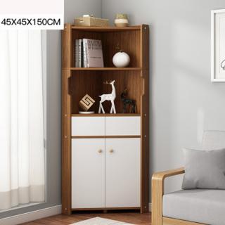 Tủ gỗ góc tường để đồ đa năng (màu nâu đậm) - tủ kệ góc tường, tủ kệ bếp gỗ đẹp cao cấp chống ẩm, chịu lực tốt theo phong cách hiện đại, sang trọng thumbnail