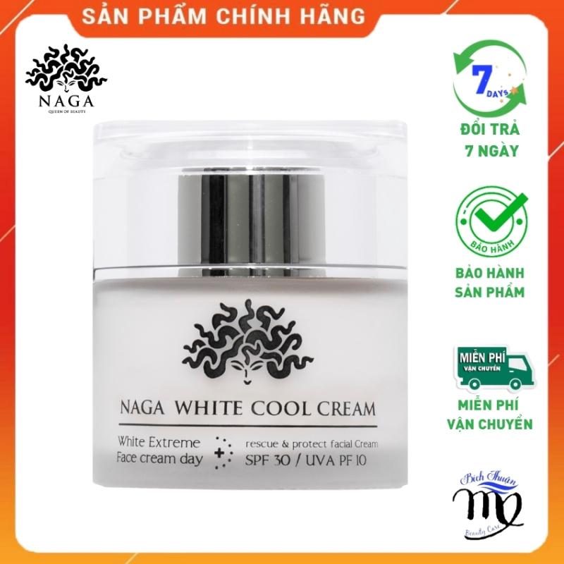 Kem Dưỡng Da Trắng Mịn Màng Căng Bóng Se Khít Lỗ Chân Lông Ngừa Mụn Nám Giá Rẻ Chính Hãng White Cool NAGA giá rẻ